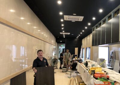 The fit out @ Snacky Chans